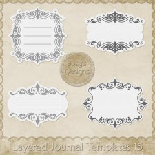Layered Journal Templates 15 by Josy