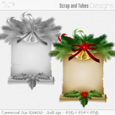 Christmas Scroll Template 3 (CU4CU) by Scrap and Tubes