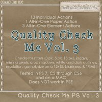 Quality Check Me Actions for PS Vol. 3