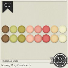 Lovely Day Cardstock PS Styles by Just So Scrappy