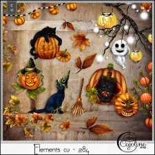 Elements CU - 284 Halloween mix 1 by Cajoline-Scrap