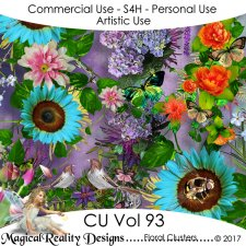 Floral Clusters - CU Vol 93 by MagicalReality Designs