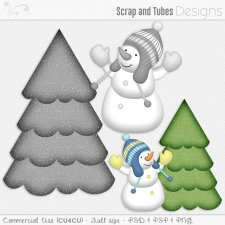 Snowman and Tree Templates (CU4CU) by Scrap and Tubes