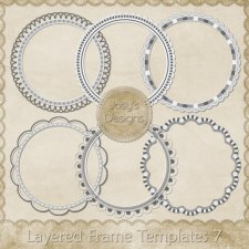 Layered Frame Templates 7 by Josy
