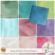 Magic Wisdom Painted Papers EXCLUSIVE by PapierStudio Silke