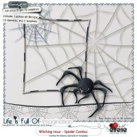 Witching Hour-Spider Combo: Actions, Templates & Embellishments