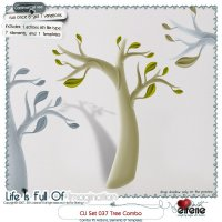 CU Set 037 - Tree Combo: Actions, Templates & Embellishments