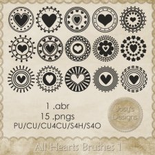 All Heart Brushes by Josy