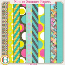 Now or Summer Papers by Benthaicreations