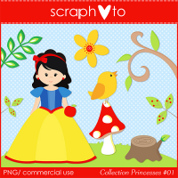 Princesses Collection #01 - Cliparts by Scraphoto Studio