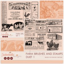 Farm Brushes and Stamps Duet 1