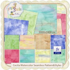 Cecita Watercolor 3 - Seamless Pattern & Styles EXCLUSIVE by PapierStudio Silke