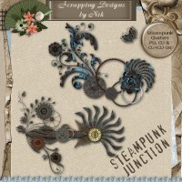 Steampunk Junction Floral Clusters II