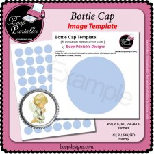 Bottle Cap Image TEMPLATE by Boop Printable Designs