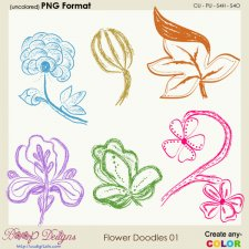 Flower Doodles 01