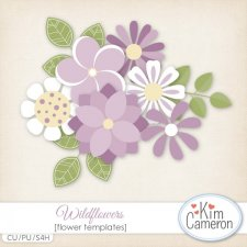 Wildflowers Templates by Kim Cameron
