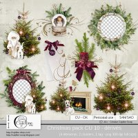 Christmas pack CU 10 - derivative by Cajoline-Scrap