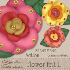 Action - Flower Felt II by Rose.li