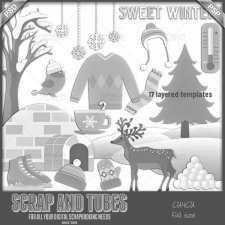 Sweet Winter Templates CU4CU by Scrap and Tubes
