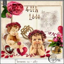 Elements CU - 287 Vintage love by Cajoline-Scrap