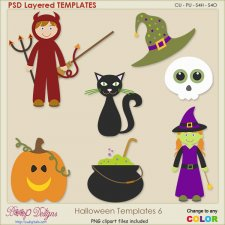 Halloween Layered TEMPLATES 6