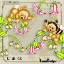 CU Vol 456 Flowers Bear by Lemur Designs