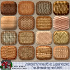 Natural Woven Fibers Layer Styles by Karen Stimson