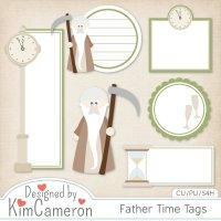 Father Time Tags
