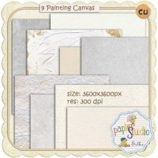 Painting Canvas Textured Papers EXCLUSIVE by PapierStudio Silke