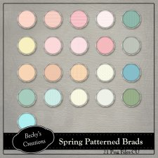 Spring Patterned Brads by Becky Creations