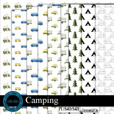 Camping Overlays by Happy Scrap Art