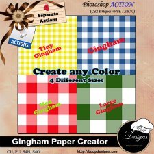 Gingham Paper Creator by Boop Designs