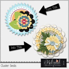 Cluster Seals Layered Templates Pack No 5