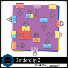 Binder clips 2 elements by Happy Scrap Art