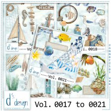 Vol. 0017 to 0021 - Beach Mix by Doudou's Design