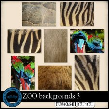 Zoo Backgrounds A4 CU4CU by Happy Scrap Arts