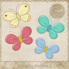 Butterfly Action 05 by Josy