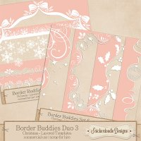 Border Buddies Duo Set 3 by SnickerdoodleDesigns