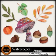 Watercolors Autumn 1 Elements