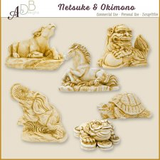 Netsuke & Okimono Elements by ADB Designs