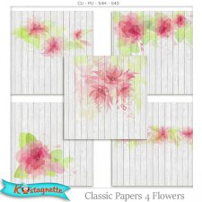 Classic Papers 4 Flowers by Kastagnette