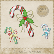 Candy Cane Photoshop Action 1 by Josy