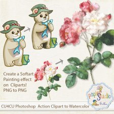 Action Clipart to Watercolor EXCLUSIVE by PapierStudio Silke