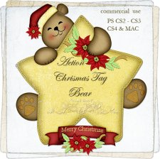 Action - Christmas Tag Bear by Rose.li