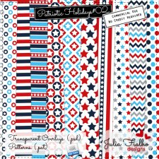 Patterns - Patriotic Holidays 02 by Julia Fialho