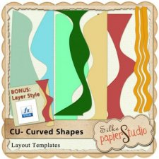Curved Shapes 1 EXCLUSIVE by PapierStudio Silke