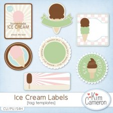 Ice Cream Labels Templates by Kim Cameron