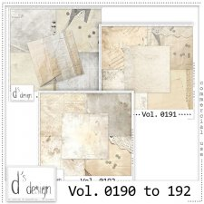 Vol. 0190 to 0192 Spring Papers by Doudou Design