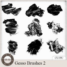 Gesso Brushes 2 by Happy Scrap Arts