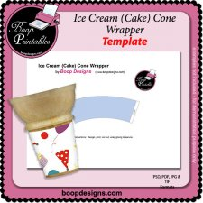 Ice Cream Cake Cone Wrapper by Boop Printable Designs